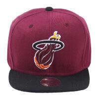 迈阿密热火队运动帽 篮球达人平檐帽宽檐帽