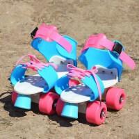 儿童礼物可调轮滑鞋儿童款双排轮滑鞋双排溜冰鞋简易四轮旱冰鞋