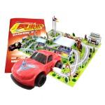 小车迷:赛道飙车(与众不同的超级拼插――带轨道,玩赛车,能组合)