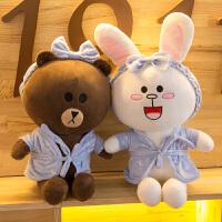 布朗熊公仔抱枕 可妮兔玩偶毛绒玩具 可爱娃娃 女生大号生日礼物
