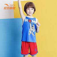 安踏童装篮球服 春夏季新款小童透气汤普森篮球比赛套运动背心