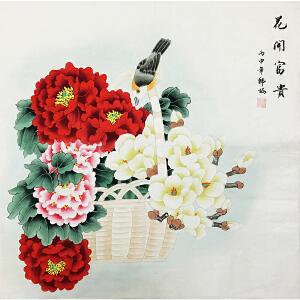 韩梅《花开富贵》著名画家
