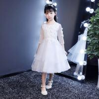 儿童礼服公主裙演出服秋钢琴模特走秀表演服小主持人蓬蓬裙女