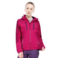 春季新款女士骑行外套男士户外防水透气冲锋衣情侣单层登山服 粉红色 女士 3X