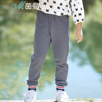 茵曼童装女童休闲裤新品中大童纯棉运动拼色时尚卫衣裤【3881091046】