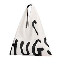 大包包韩版个性潮流帆布单肩包女chic时尚创意搞怪字母手提包布袋