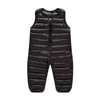 寒盾儿童羽绒棉裤 中小童可开档背带裤 时尚童装羽绒棉连体衣