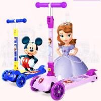【支持礼品卡】滑板车儿童2岁儿童车6可折叠小孩四轮宝宝1-3岁溜溜车闪光g8f