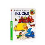 理查德・斯凯瑞的卡车 Richard Scarry's Trucks英文原版绘本 交通工具 幼儿启蒙认知读物 纸板书