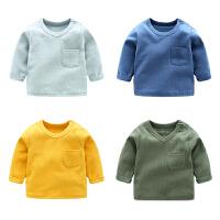 女婴儿童上衣服1个月3男宝宝休闲T恤6打底衫春秋装