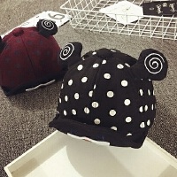 宝宝帽子1-2岁秋冬加厚鸭舌帽婴儿帽6--24个月男女儿童帽韩版潮