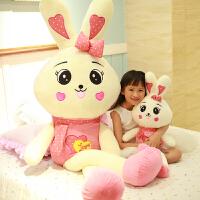 米毛绒玩具菲兔大号可爱圣诞节礼物送女友小白兔子布娃娃玩偶