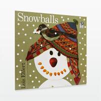 【99选5】美国进口 百本必读 创意拼贴 Snowballs 雪球【平装】#