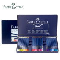 德国原装辉柏嘉水溶彩色三角点阵 36 60色铅笔蓝铁盒装 水溶彩铅