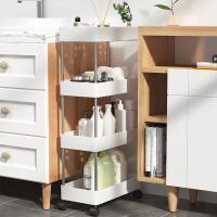 落地储物小推车多层书架零食收纳用品神器厕所厨房卧室简易置物架