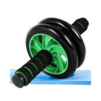 捷�N 双轮静音健腹轮 腹肌滚轮健身轮 家用健身器材