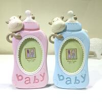 创意奶瓶相框 男女宝宝儿童相框周岁摆台3寸4寸生日满月礼物