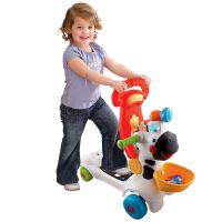 多功能小斑马学步车 早教益智儿童踏滑行车宝宝手推车