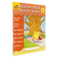 【首页抢券300-100】Evan Moor Stories To Read Words to Know Level I