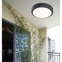 户外防水吸顶灯 欧式现代防潮灯室外阳台灯露台庭院灯大门灯圆形