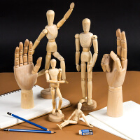 柏伦斯漫画12寸木人模型寸木头人30cm素描木偶人10寸小木人关节人偶木手关节可动木质关节手美术用品画材