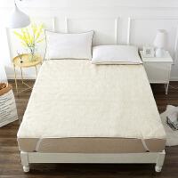 当当优品羊羔毛床垫 纯羊毛全棉防潮床垫 学生床褥90*195cm