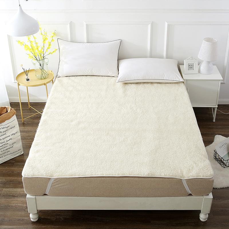 当当优品羊羔毛床垫 纯羊毛全棉防潮床垫 学生床褥90*195cm当当自营