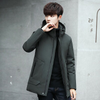 羽绒服男中长款韩版修身加厚青年学生2017新款冬季保暖男士外套潮