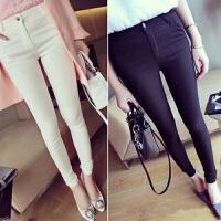 女士打底裤加绒加厚冬新款 外穿的铅笔裤 冬款高腰弹力长裤