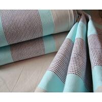 空调毯天然彩棉合股手工老粗布三件套包边凉席/四季毯