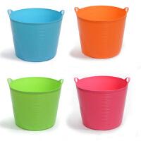 超大号带出水口环保塑料储水桶 儿童沐浴桶 婴儿沐浴盆 杂物桶 桶储物 收纳桶 橙色