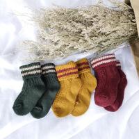 韩版日系纯棉溥款堆堆袜复古糖果色翻边中筒袜女士透气袜子靴袜子 均码