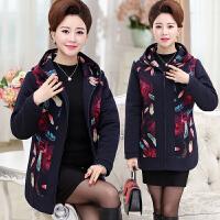 中年女装妈妈秋冬装棉衣40-50岁60中长款薄款中老年人外套女