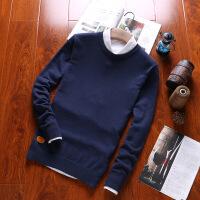 新品男士毛衣纯色韩版套头针织衫圆领打底休闲男式毛衫