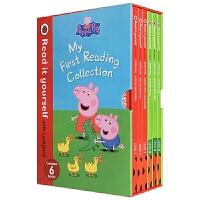 小猪佩奇英语读物6册盒装 英文原版 Peppa Pig My First Reading Collection 粉红猪小