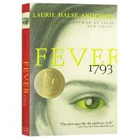 Fever 1793 黄热病1793 英文原版 文学小说 儿童青少年读物书籍 进口原版英语书 Laurie Halse