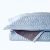 原素品制床上床单床盖三件套纯棉全棉绗缝夹棉枕套简约纯色欧式 240*270cm