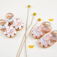 女宝宝凉鞋夏季0-1-2岁幼儿公主鞋6-12个月软底防滑学步婴儿凉鞋