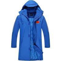 冬季新款男式军大衣冬季加厚舒适保暖中长款运动棉大衣羽绒外套保暖防水抗冻