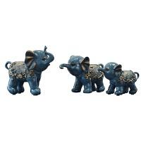【好物】摆件家居饰品大象摆件客厅酒店北欧创意树脂电视酒柜结婚礼品