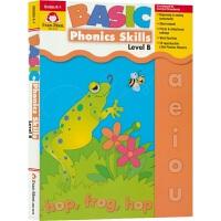 【首页抢券300-100】Evan-Moor Basic Phonics Skills Level B 基础练习 自然拼