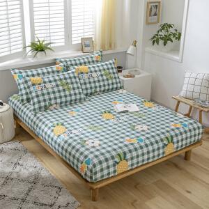 【领券立减50】床笠单件纯棉薄棕垫床罩1.2m学生宿舍全棉床垫套1.51.8米床单