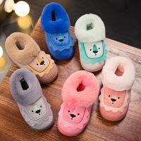 儿童棉拖鞋秋冬季可爱防滑男童女童包跟家居家1-3岁室内小孩宝宝
