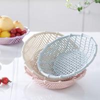 时尚家用欧式客厅干果盘果盘水果盘果篮洗菜篮糖果盒创意零食盘 颜色随机发
