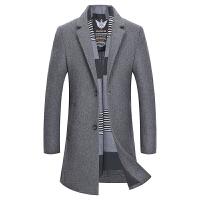 毛呢大衣男士中长款秋冬新款韩版修身呢子风衣商务休闲羊毛外套潮