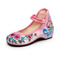老北京布鞋女款绣花童鞋春款防滑圆头鞋中小童娃娃鞋民族风碎花鞋