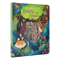 Usborne英文原版 Peep Inside Fairy Tale Beauty and the Beast 美女与