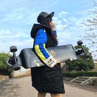 长板速降板下沉板公路板刷街代步滑板儿童初学者滑板 黑色 速降刷街105cm