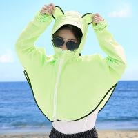 防晒头套面罩护全脸女自行车骑行遮阳装备夏天户外透气儿童口罩帽SN2121
