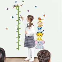 身高壁纸 儿童房宿舍动物装饰墙纸贴画墙贴自粘卧室测量身高可移除贴纸